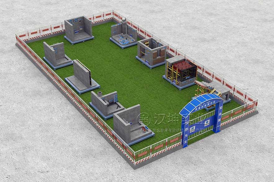 建筑工地样板展示区3D效果图